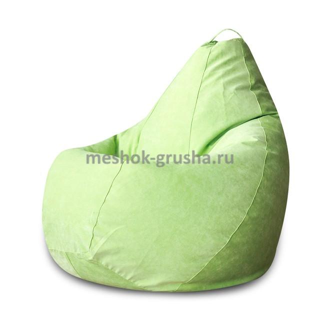Кресло Мешок Груша Салатовый Микровельвет (XL, Классический)