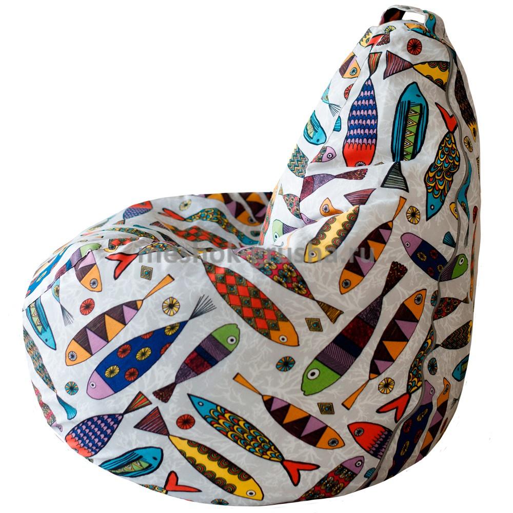Детское Кресло Мешок Рыбки L (Классический)