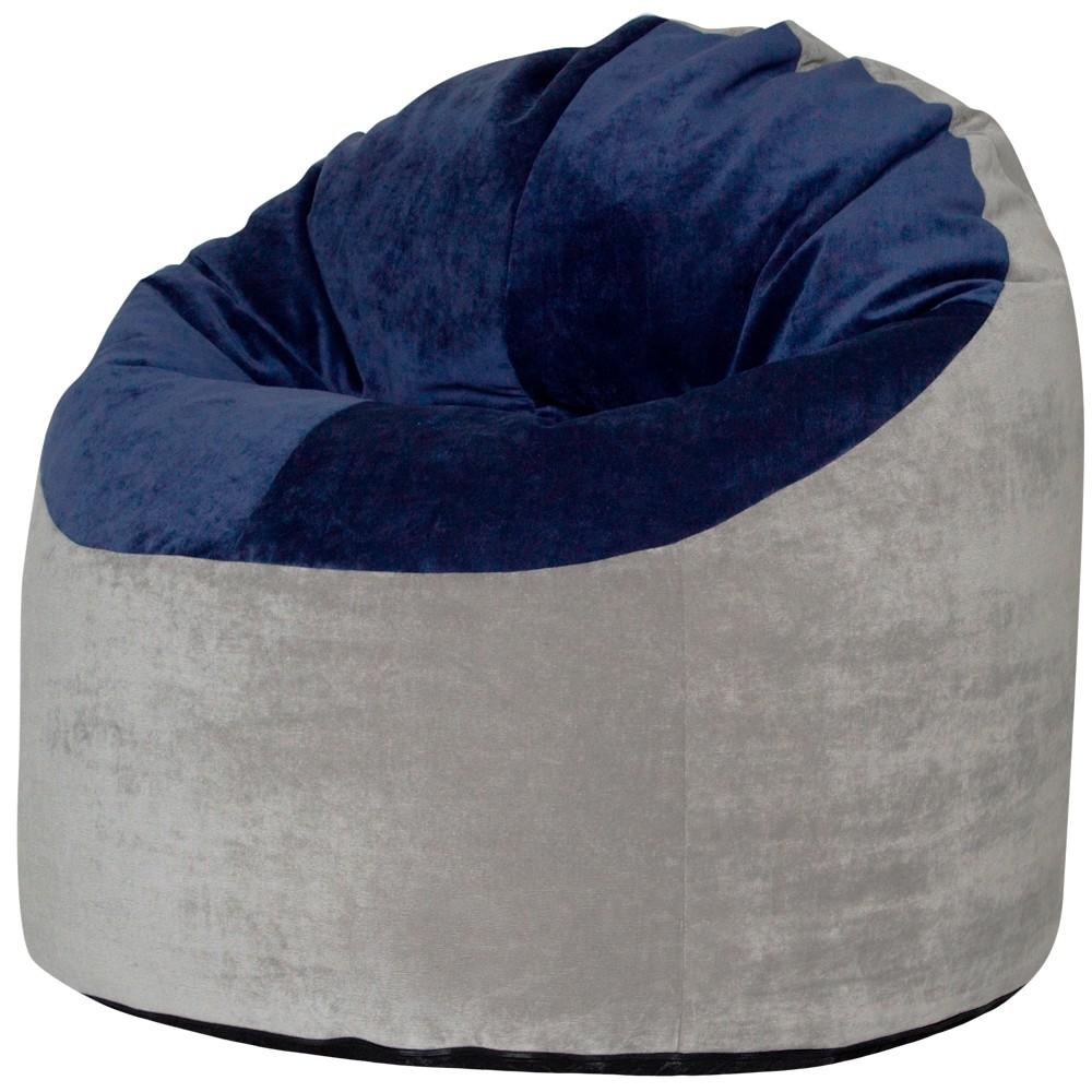Кресло Пенек Серо-Синий