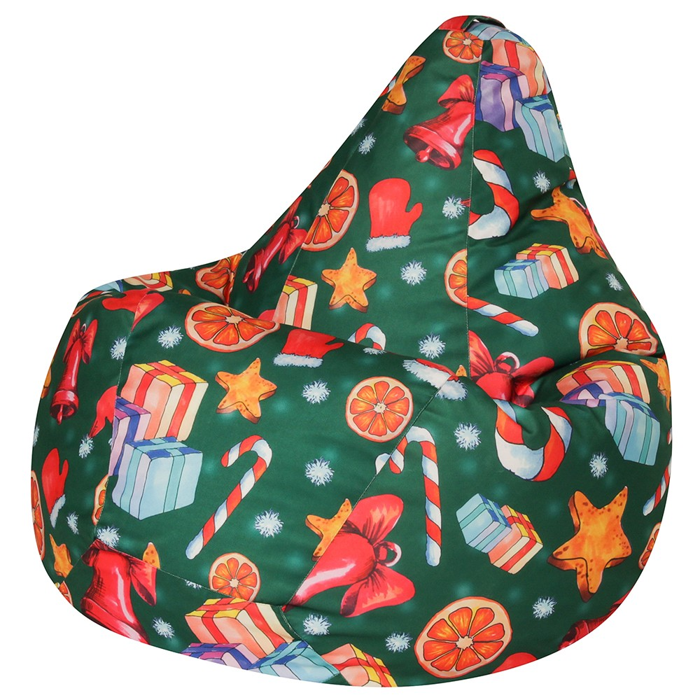 Кресло Мешок Груша Christmas (L, Классический)